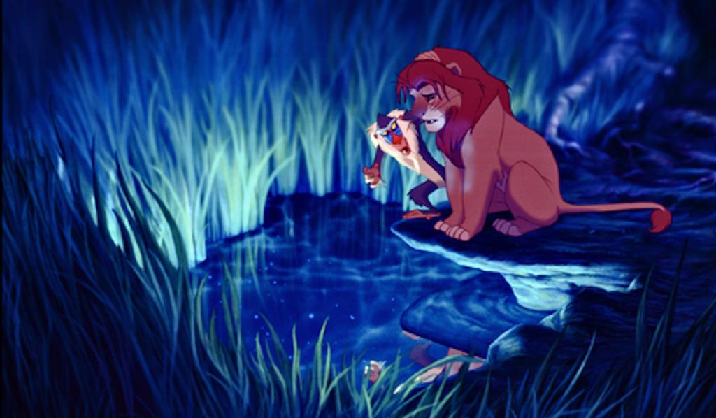 Lion Pond King Reflection